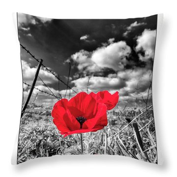 The Red Spot Throw Pillow
