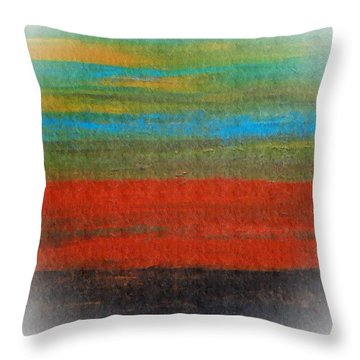 The Red Stripe -or- Meditation Number 28 Throw Pillow by Scott Haley