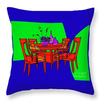 The Red Table Throw Pillow