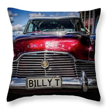The Red Zephyr Throw Pillow