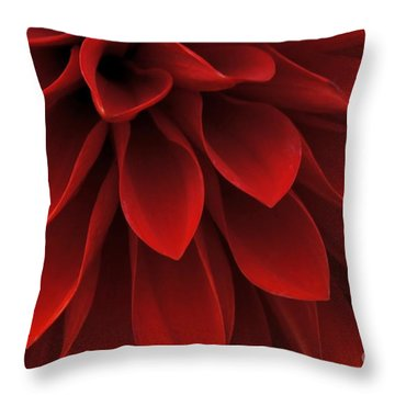 Throw Pillow featuring the photograph The Reddest Red by Patricia Strand
