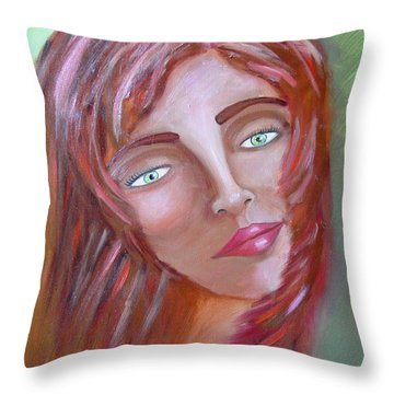 The Redhead Throw Pillow