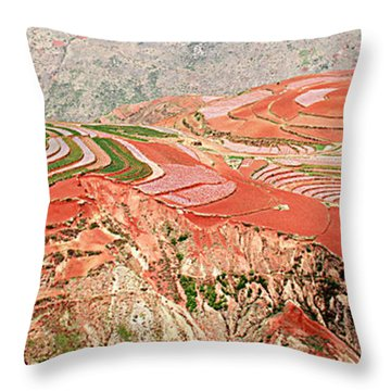 The Redlands, Yunnan, China Throw Pillow