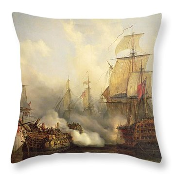 The Redoutable At Trafalgar Throw Pillow