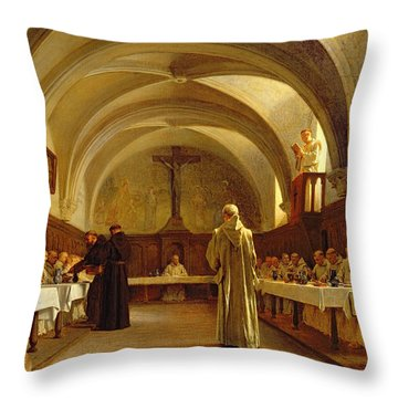 The Refectory Throw Pillow by Theophile Gide