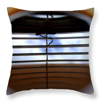 Throw Pillow featuring the photograph The Reflection In A Cup Of Coffee by Danica Radman