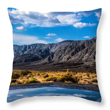 The Reflection On The Roof Throw Pillow
