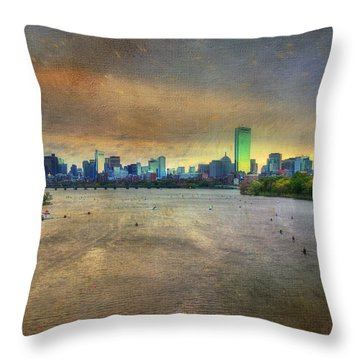 Throw Pillow featuring the photograph The Regatta - Head Of The Charles - Boston by Joann Vitali
