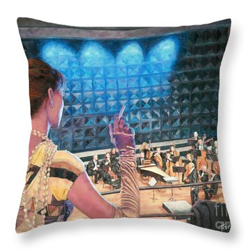 The Rehearsal Throw Pillow by Theo Michael