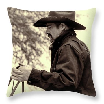 The Reins  Throw Pillow