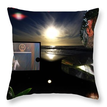 the relative face of TIME Throw Pillow