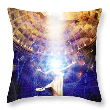 The Release Of Religious Dogma Throw Pillow by Robby Donaghey