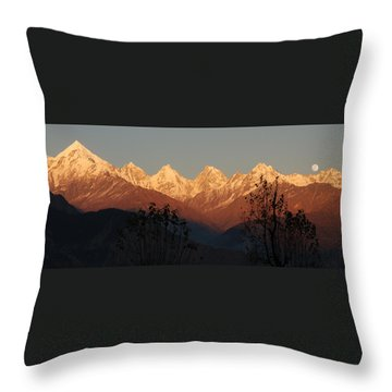 The Rendezvous. A Panorama. Throw Pillow by Fotosas Photography