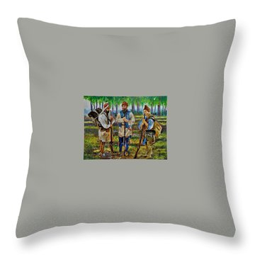 The Rendezvous. Throw Pillow