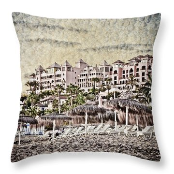 The Resort Beach Throw Pillow by Loriental Photography