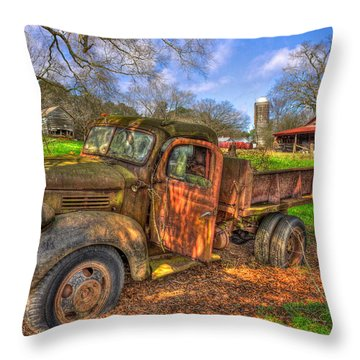 The Resting Place 2 Boswell Farm 1947 Dodge Dump Truck Throw Pillow