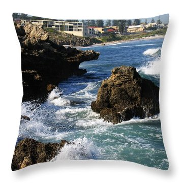 The Restless Sea Throw Pillow