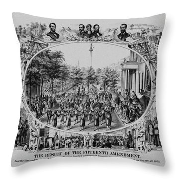 The Result Of The Fifteenth Amendment Throw Pillow