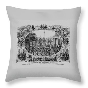 The Result Of The Fifteenth Amendment Throw Pillow by War Is Hell Store