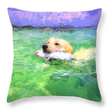 The Retriever  Throw Pillow by JC Findley