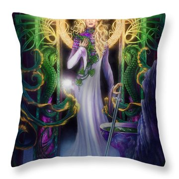 The Return Of Ithwenor Throw Pillow by Curtiss Shaffer