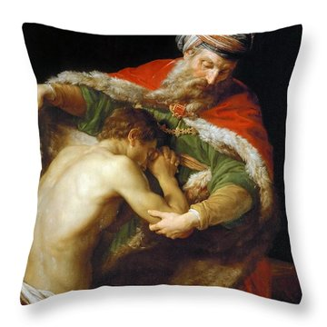 The Return Of The Prodigal Son Throw Pillow
