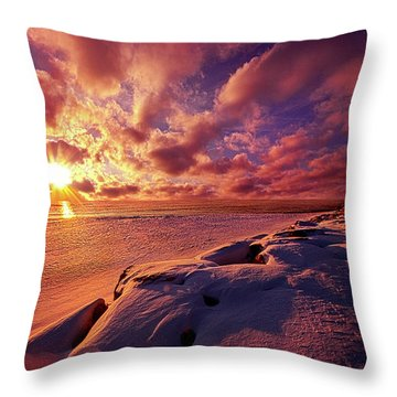 Throw Pillow featuring the photograph The Return by Phil Koch