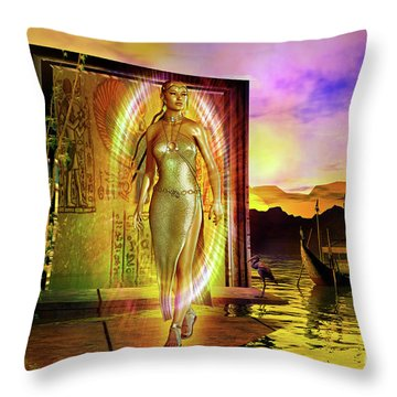 The Return Throw Pillow by Shadowlea Is