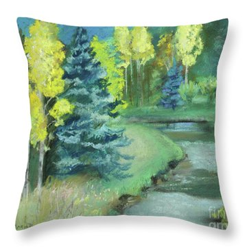 Throw Pillow featuring the drawing The Reunion  by Robin Maria Pedrero