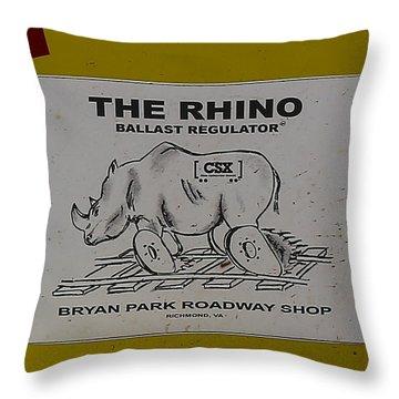 The Rhino Ballast Regulator Throw Pillow