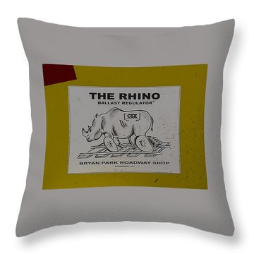 The Rhino Ballast Regulator Throw Pillow
