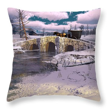 The Rhythm Of Frost Throw Pillow