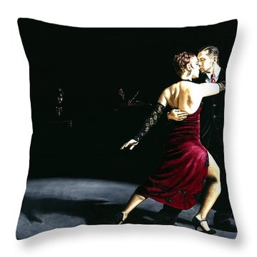 The Rhythm Of Tango Throw Pillow by Richard Young