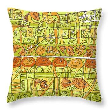 The Rhythm Of Things Throw Pillow by Linda Kay Thomas