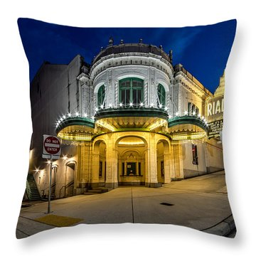 The Rialto Theater - Historic Landmark Throw Pillow