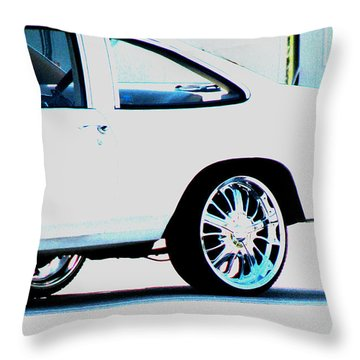 The Ride Throw Pillow by Amanda Barcon