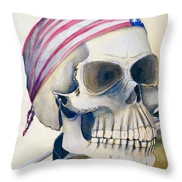 The Rider's Skull Throw Pillow
