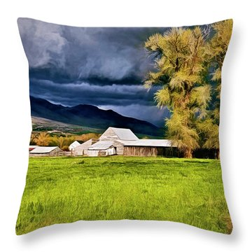 The Right Place At The Right Time Throw Pillow by James Steele