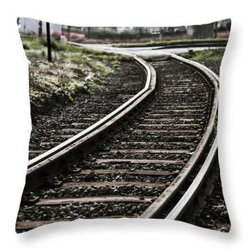 The Right Track? Throw Pillow