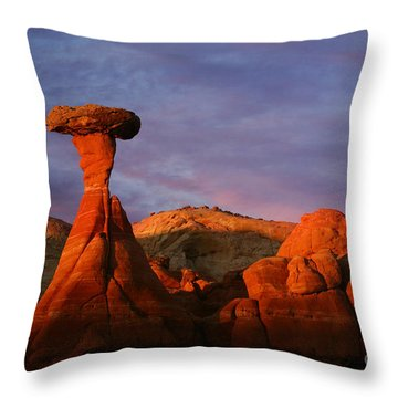 Throw Pillow featuring the photograph The Rim Rocks by Keith Kapple