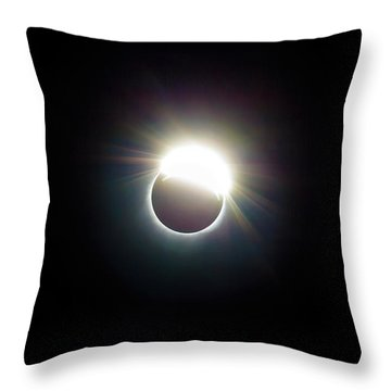 The Ring Of 2017 Solar Eclipse Throw Pillow