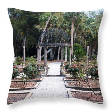 The Ringling Rose Garden Throw Pillow