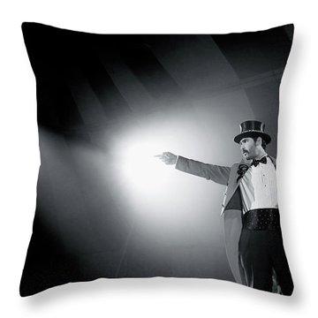 The Ringmaster Throw Pillow by Glennis Siverson