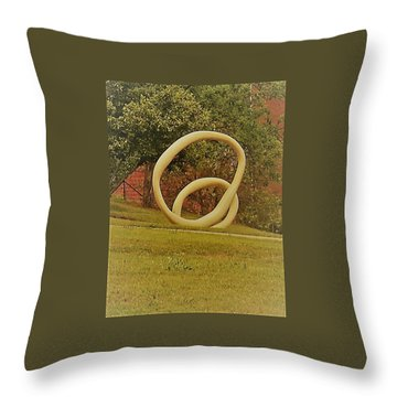 Throw Pillow featuring the photograph the rings of Mactown by Aaron Martens