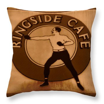 The Ringside Cafe Throw Pillow by David Lee Thompson