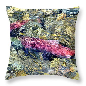 Throw Pillow featuring the photograph The Ripple Effect by David Lawson