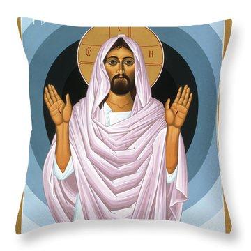 The Risen Christ 014 Throw Pillow