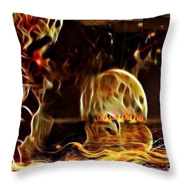 The Rising Horizont  Throw Pillow