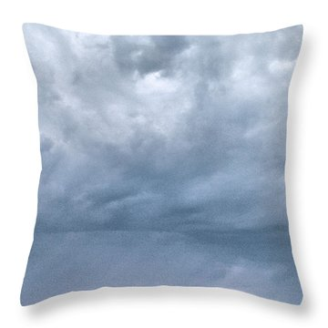 Throw Pillow featuring the photograph The Rising Storm by Jouko Lehto