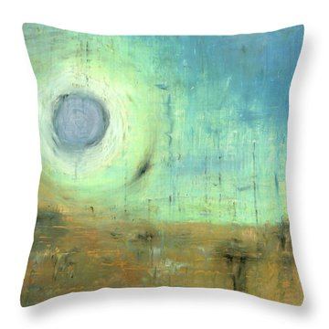 Throw Pillow featuring the painting The Rising Sun by Michal Mitak Mahgerefteh